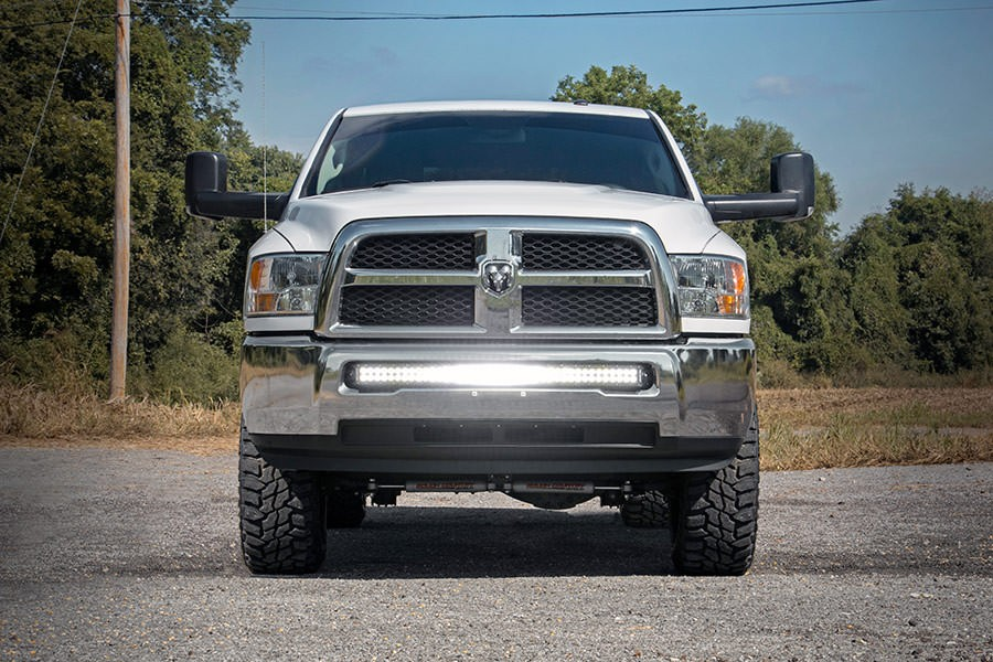Dodge 40 Inch Curved Led Light Bar Hidden Bumper Mounts 10 18 Ram