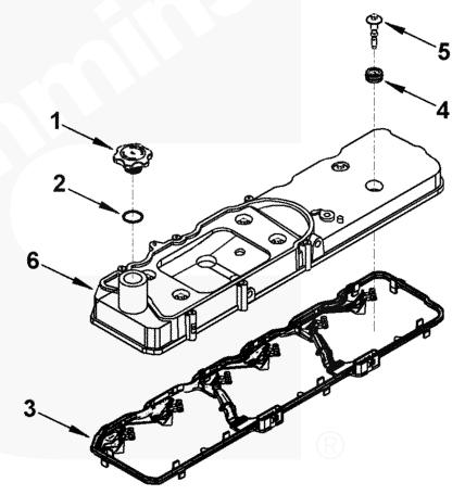 05-07.5+ Dodge 5.9L/6.7L mins Valve Cover Gasket w/Harness 5367847 on