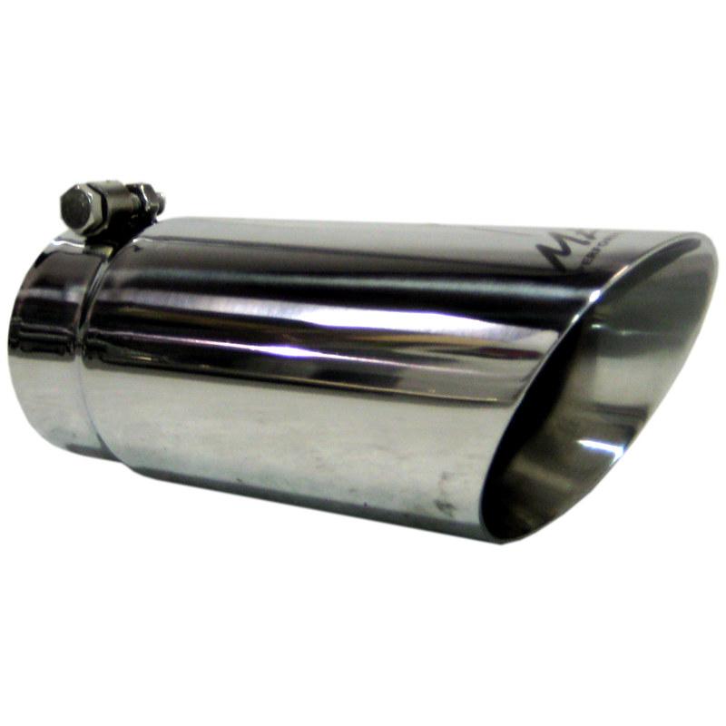 "MBRP 10/"" Stainless Steel Exhaust Tip Angled Rolled 3.5/"" Inlet 4/"" Outlet T5112"